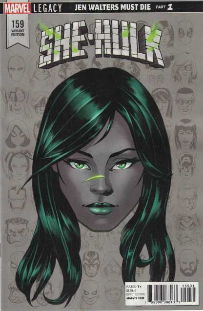She-Hulk #159 1:10 Mike McKone Headshot Variant Marvel Legacy
