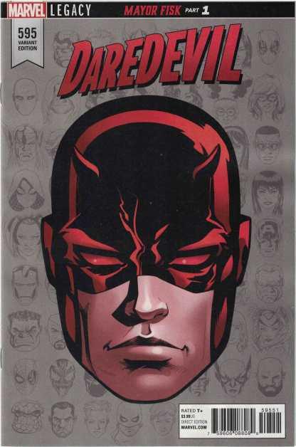 Daredevil #595 1:10 Mike McKone Headshot Variant Marvel Legacy