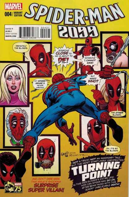 Spider-Man 2099 #4 1:25 Greg Land Deadpool Amazing #121 Homage Variant 2014