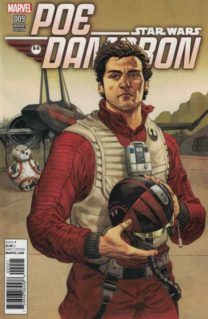 Star Wars Poe Dameron #9 1:25 Hawthorne Variant Marvel 2016 TFA