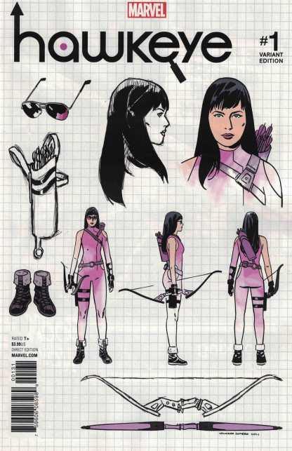 Hawkeye #1 1:10 Romero Design Variant NOW Marvel 2016 Kate Bishop