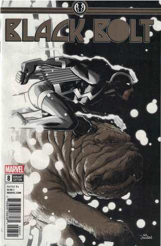 Black Bolt #8 1:25 Nick Derington Variant Marvel Legacy 2017
