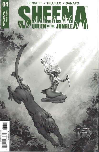 Sheena Queen of the Jungle #4 1:10 Moritat B&W Variant Dynamite 2017
