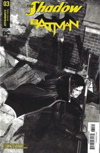 Shadow Batman #3 1:40 Brandon Peterson B&W Variant Dynamite 2017