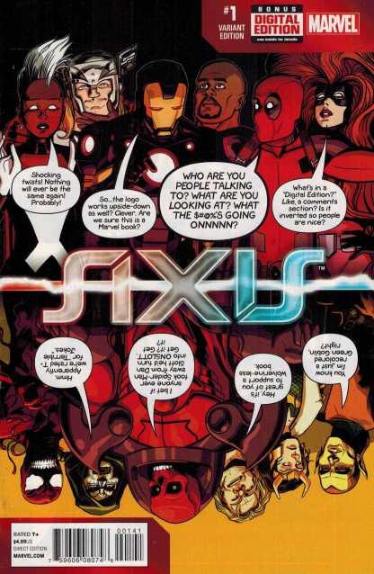 Avengers X-Men Axis #1 Chip Zdarsky Deadpool Party Variant Marvel 2014