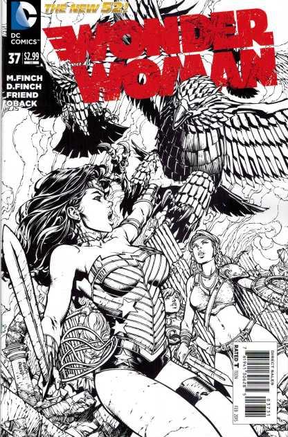 Wonder Woman #37 1:50 David Finch Sketch Variant New 52