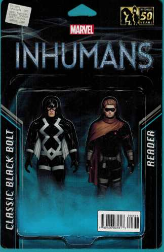 Uncanny Inhumans #3 Black Bolt and Reader Action Figure Two Pack Variant ANAD