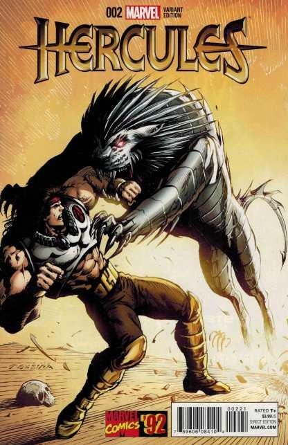 Hercules #2 1:20 Texiera Marvel 92 Variant ANAD 2015