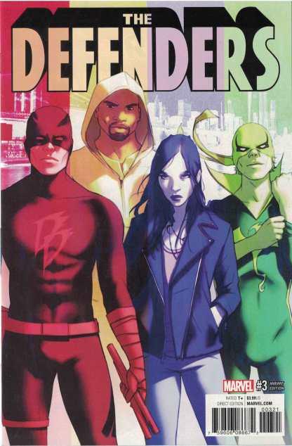 Defenders #3 1:25 W. Scott Forbes Variant Marvel 2017