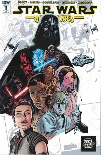 Star Wars Adventures #1 Chris Samnee Variant IDW LCSD 2017