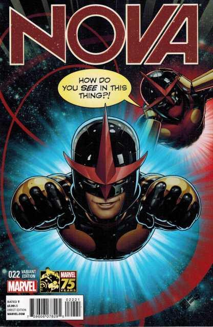Nova #22 1:25 Deadpool 75th Anniversary Variant HTF Rare Marvel NOW