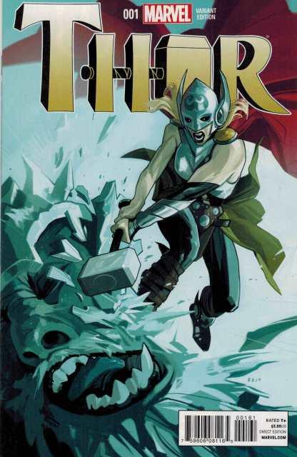 Thor #1 1:25 Fiona Staples Variant ANMN Marvel 2014 Jane Foster