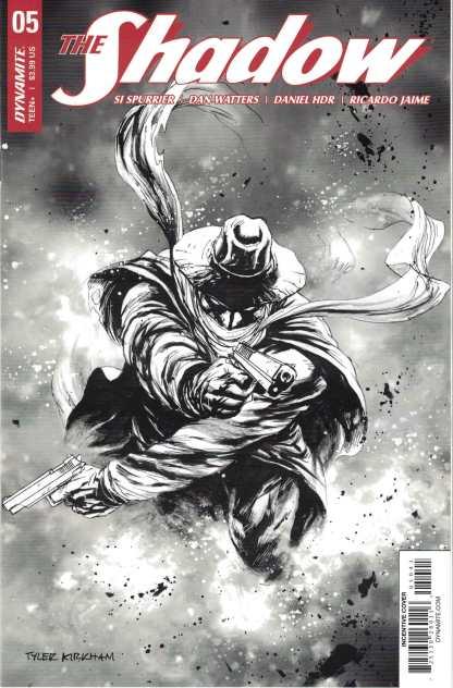 Shadow #5 1:10 Tyler Kirkham Black & White Incentive Variant Dynamite 2017