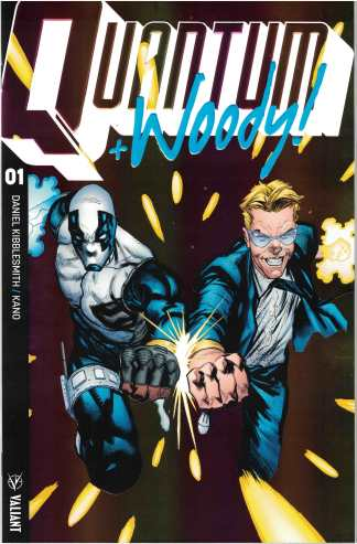 Quantum & Woody #1 1:20 Geoff Shaw Extreme Ultra-Foil Chase Valiant Variant 2017
