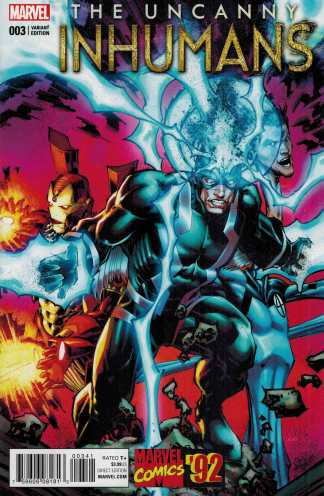 Uncanny Inhumans #3 1:20 Portacio Marvel 92 Variant ANAD 2015