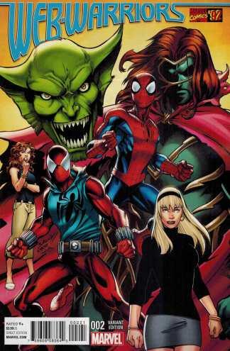 Web Warriors #2 1:20 Mark Bagley Marvel 92 Variant ANAD 2015 Spider-Man