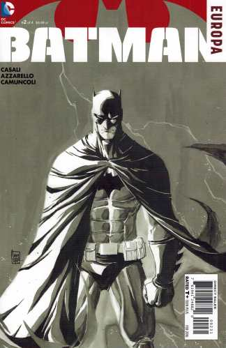 Batman Europa #2 1:50 Camuncoli Black and White Sketch Variant DC 2015