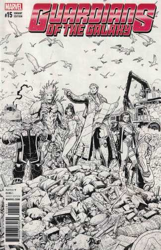 Guardians of the Galaxy #15 Art Adams Black & White Sketch Variant NOW 2016