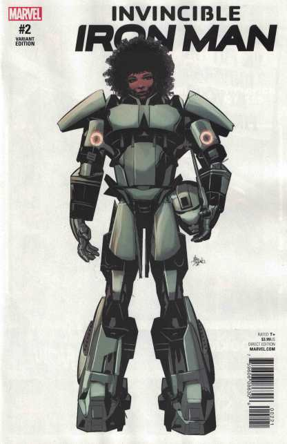 Invincible Iron Man #2 1:10 Mike Deodato Jr Teaser Variant NOW Marvel 2016