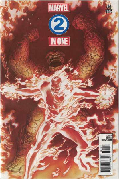Marvel Two-In-One #1 1:50 Alex Ross Variant Marvel Legacy 2017