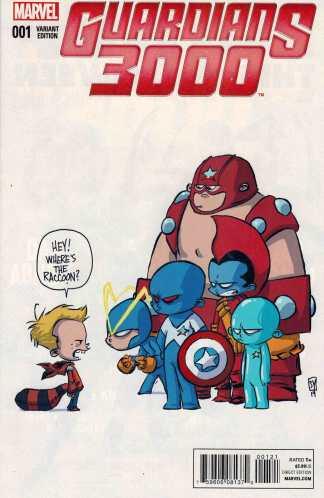 Guardians 3000 #1 Skottie Young Baby Variant Marvel ANMN 2015