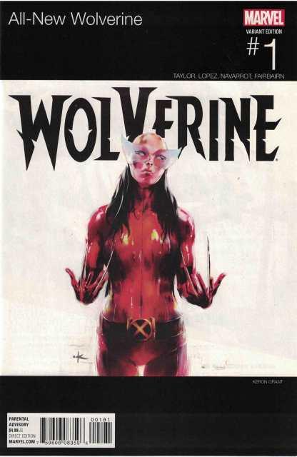All-New Wolverine #1 Unlocked Keron Grant Hip Hop Variant Marvel 2015