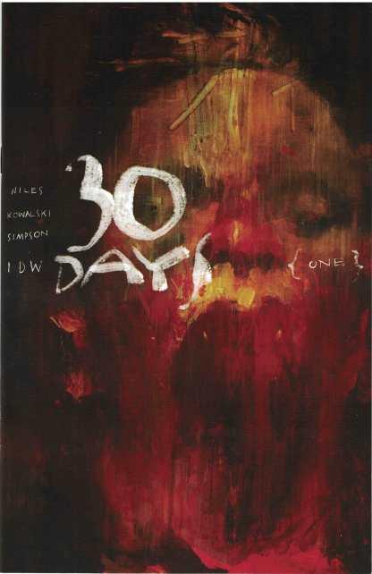 30 Days of Night #1 1:10 Ashley Wood Variant IDW 2017