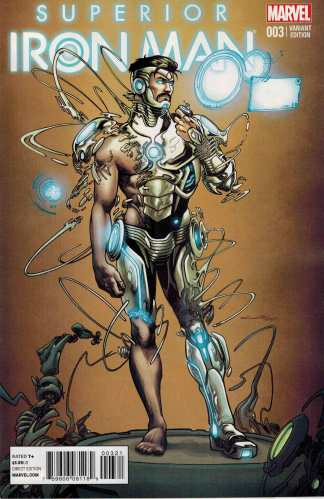 Superior Iron Man #3 1:25 Cinar Variant ANMN 2014 Marvel