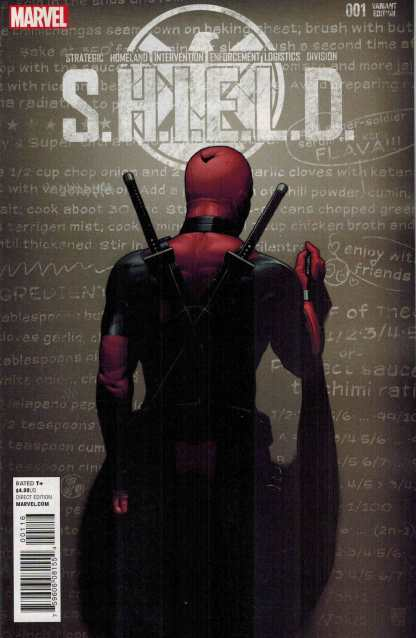 SHIELD #1 Deadpool Launch Party Color Variant Comic Marvel 2015