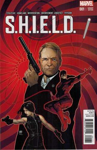 SHIELD #1 Steve McNiven Young Guns Party Variant Marvel 2014