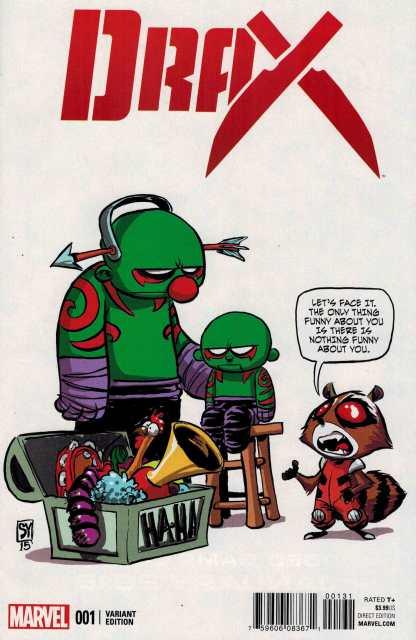 Drax #1 Skottie Young Marvel Babies Variant ANAD 2015 Rocket Raccoon
