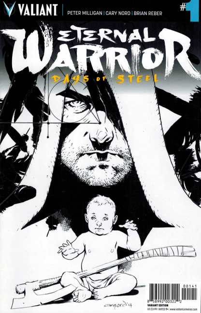 Eternal Warrior: Days of Steel #1 1:50 Cary Nord Black and White Variant Valiant