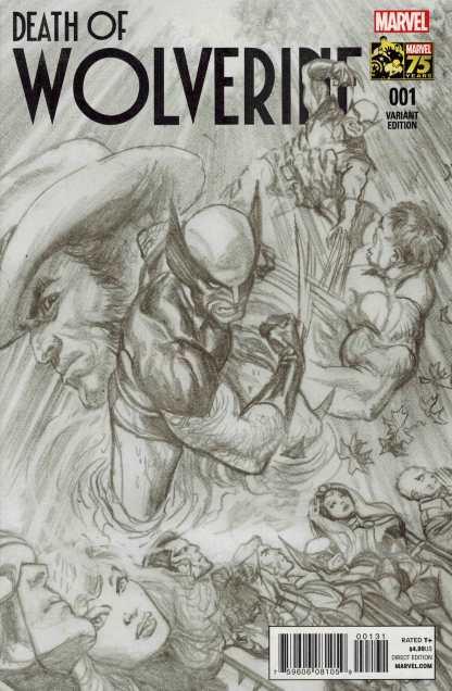 Death of Wolverine #1 1:300 Alex Ross Sketch Variant
