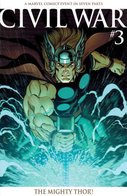 Civil War #3 Ed McGuinness Retailer Incentive Variant 2006 Marvel Thor HTF Rare
