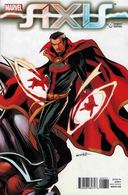 Axis #6 1:50 Schiti Variant Doctor Strange Avengers X-Men Marvel 2014