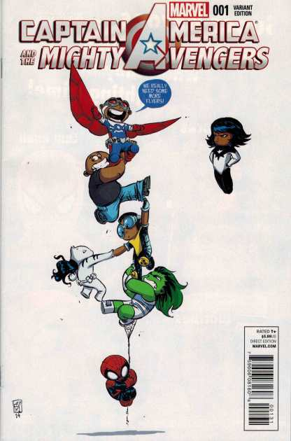Captain America and the Mighty Avengers #1 Skottie Young Baby Variant