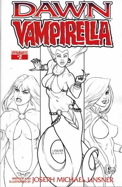 Dawn Vapirella #2 1:10 Michael Linsner Black and White Variant