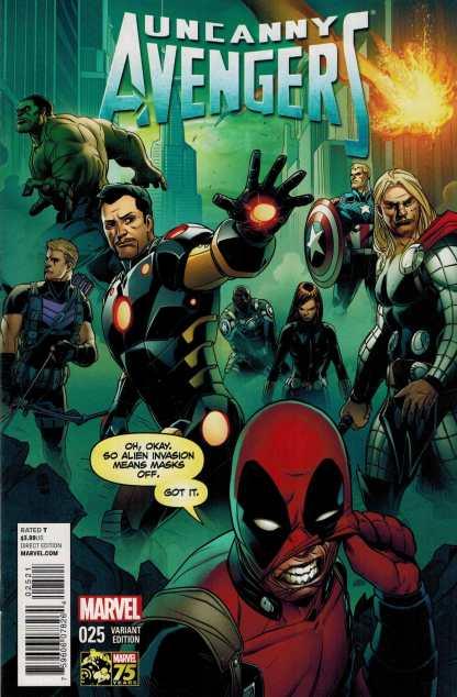 Uncanny Avengers #25 1:25 Deadpool 75th Anniversary Variant