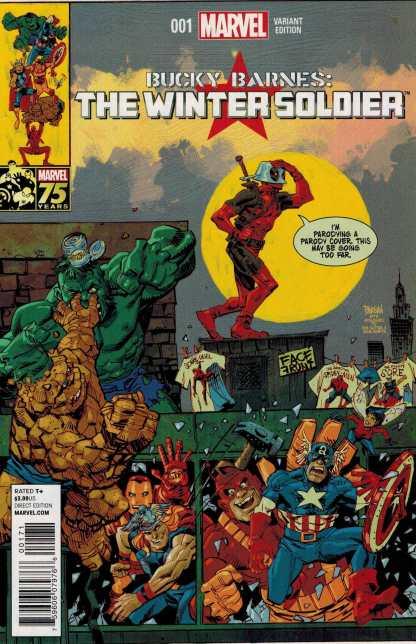 Bucky Barnes the Winter Soldier #1 1:15 Deadpool 75th Anniversary Variant