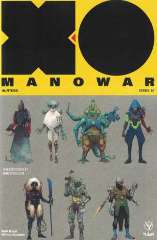 X-O Manowar #10 1:20 Rocafort Character Design Variant Cover C Valiant 2017