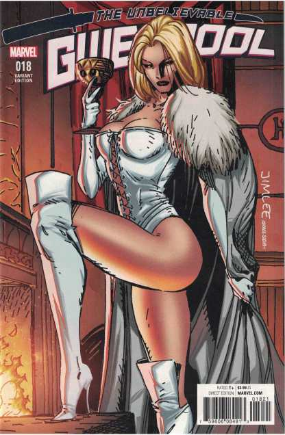 Gwenpool #18 Jim Lee X-Men Card Variant Emma Frost White Queen Unbelievable