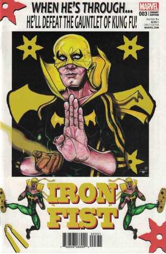 Iron Fist #3 1:25 Leroy Davis Variant Marvel 2017