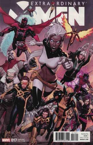 Extraordinary X-Men #17 1:25 Jorge Molina Variant Marvel ANAD 2015 IVX
