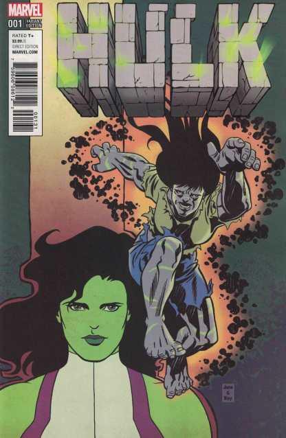 Hulk #1 1:25 June Brigman Classic Variant NOW Marvel 2016 Gray She-Hulk