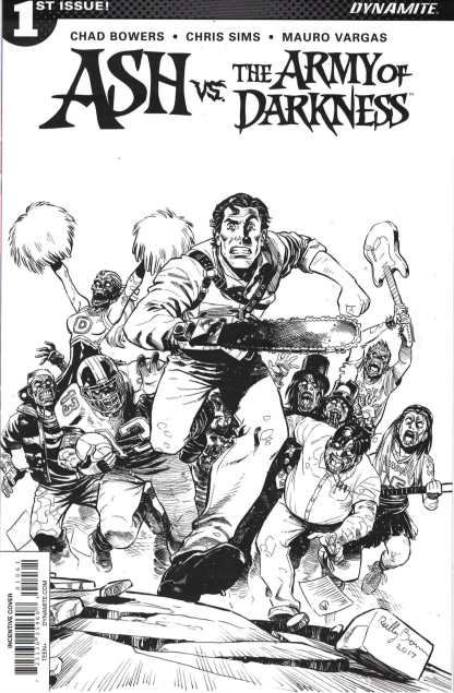 Ash Vs. the Army of Darkness #1 1:20 Brown B&W Variant Dynamite 2017