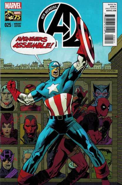 New Avengers #25 1:25 Deadpool 75th Anniversary Variant Marvel 2014