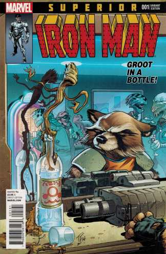 Superior Iron Man #1 Rocket and Groot Variant