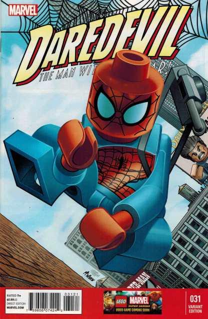 Daredevil #31 1:25 Leonel Castellani Lego Color Variant Marvel 2011