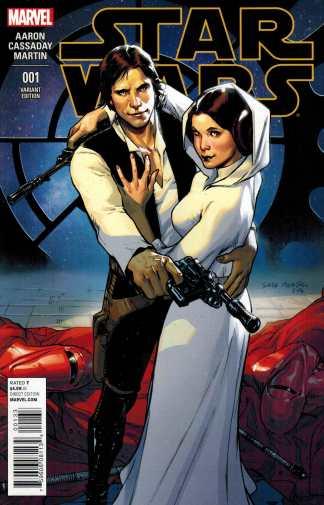 Star Wars #1 1:20 Sara Pichelli Variant Marvel 2015 Han Leia