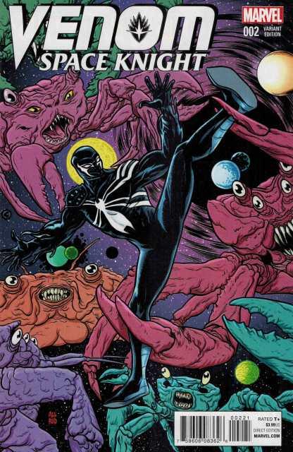 Venom Space Knight #2 1:25 Mike Allred Variant Marvel ANAD 2015